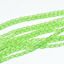 50pcs 5x3mm Green Faceted Teardrop glass crystal Spacer beads/*