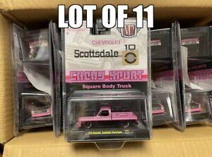 M2 Machines Lot Squarebody Pink 1979 Scottsdale Solid Case Of 11 EM6599
