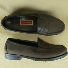 Cole Haan US 11 D Men Penny Loafer Nubuck Moc Toe Slip On Brown C02999
