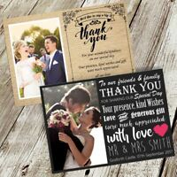 PERSONALISED PHOTO WEDDING THANK YOU CARDS 60+ DESIGNS TO CHOOSE FROM 10 20