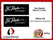 BC Rich Guitar Decal Headstock Decal Restoration Waterslide Logo 107w