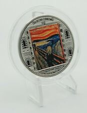 Cook Islands 2018 - Masterpieces of Art - Munch - Scream - Proof Silver Coin