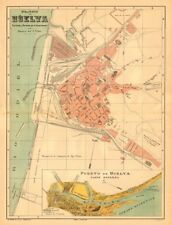 HUELVA. Plano antiguo de la cuidad. Antique town/city plan. MARTIN c1911 map