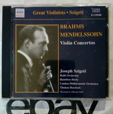 Szigeti : Brahms • Mendelssohn - Violin Concertos - CD (2002)