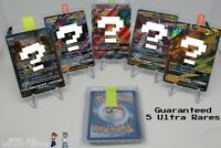 Pokemon Card Lot 5 Ultra Rare ONLY Pack! EX Mega GX Full Art Secret Hyper Rare