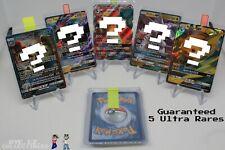 Pokemon Card Lot 5 Ultra Rare ONLY Pack! EX Mega GX Full Art Secret Hyper Rare