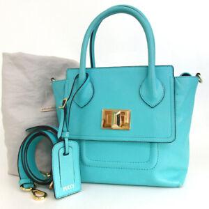 Authentic EMILIO PUCCI 2way Shoulder Handbag leather[Used]