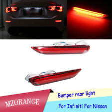 LED Bumper Rear Lights Sequential Turn Signal For Infiniti Nissan Rogue Altima