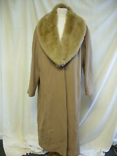 Ladies Coat, Windsmoor,Size 16,Beige,Removable Fake Fur Trimming, 70% Wool -2541
