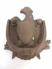 "Vintage Cast Iron Metal American Eagle Decorative Door Knocker Bronze 7""x4.5"""