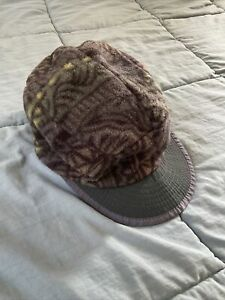 Vintage PATAGONIA Duckbill Fleece Cap Hat 1996 Aztec Pattern 90's Made In USA