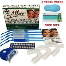 Allure Teeth Whitening Kit 18% CP Gel Pen Australian Brand LED Light Mouth Trays