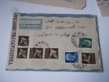Italy WW2 cover w/ letter, 1941 verified by censorship.