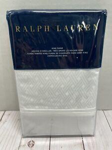 Ralph Lauren Bedford Jacquard Classic White King Pillow Sham
