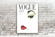 1950 VOGUE MAGAZINE COVER FASHION  REPRODUCTION, 280GSM SATIN PAPER PRINT