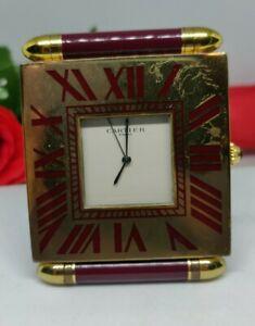 Cartier Alarm Clock. Cartier travel clock. House Clearence working Cartier clock