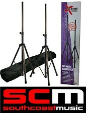 XTREME SS252 PA LOUD SPEAKER STANDS HEAVY DUTY & STURDY w/ CARRY BAG NEW