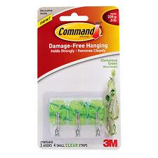 3M Command Utensil Designer Hooks, 0.5lb Capacity, Pack of 3 - Clear Green