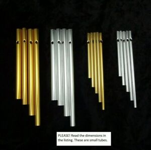 Wind Chime Components Adonized Aluminum Gold Silver Lg Sm TUBES for Fused Glass