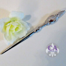 #10580 Brieföffner Briefmesser Falzmesser Silber Antikstil Shabby Barock