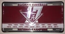 ALABAMA CRIMSON TIDE 2017 NATIONAL CHAMPIONS CAR TAG LICENSE PLATE CHAMPIONSHIP