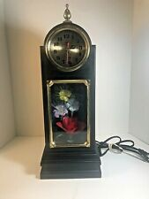 Vintage Fiber Optic Color Changing Flower Lamp Light Clock