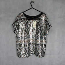 New! Stunning! Oasis Sequin Summer Top/Blouse Size L Stylish Women Fashion