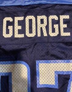 Vintage Eddie George 27 Tennessee Titans NFL Jersey Reebok Mens Size XXL 52