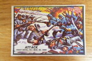 A&BC GUM CARD CIVIL WAR NEWS #11 ATTACK  1965 EXCELLENT