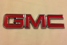 GMC Emblem Rear Chrome & Red Nameplate 22884137 for Pickup Truck SUV Van New