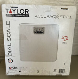 Taylor Precision Rotating Dial Analog Bathroom Scale, New Open Box