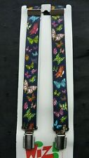 BRACES for BOYS/GIRLS/CHILDREN -NEW - NAVY WITH BUTTERFLIES,  1-6 yrs. UK MADE