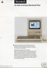 "VINTAGE (1986) APPLE BROCHURE/DATASHEET: MAC PLUS ""LA MISE A NIVEAU (FRENCH**"