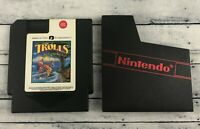Trolls on Treasure Island (Nintendo) NES 1994 RARE A.V.E. NES & Dust Cover