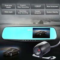 "4.3"" LCD HD 1080P Dual Lens Car Vehicle Dashboard Camera Video DVR Cam Recorder#"