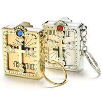 New Gift Mini Holy Bible Miniature Paper Christian Jesus Key Chain Key Ring*