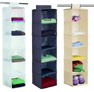 6 POCKET WARDROBE SWEATER STORAGE ORGANISER UNIT SHELF HANGING CLOTHE HOLDER NEW