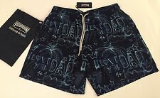 New w Tags Authentic Vilebrequin I LOVE YOU DAD Navy Blue Swim Trunks for Men XL