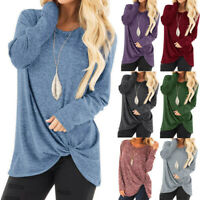 Women Long Sleeve Sweater Jumper Ladies Casual Pullover Top T Shirt Blouse UK