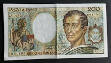 FRANCE - FRANCIA - FRENCH NOTE - BILLET DE 200 FRANCS MONTESQUIEU 1984 TTB.