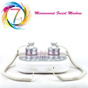 7 Colors LED Photon Rejuvenation Double Probe Microcurrent Face Lift SPA Machine