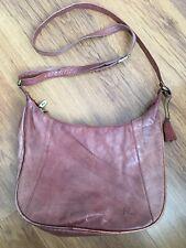 Mia Womens Brown Leather Croosbody Bag