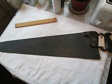 "Circa 1871 Henry Disston and Son Panel Rip Saw (5 1/2tpi) - 28""L x 7""W- Exc."
