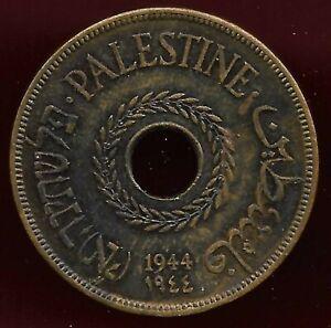 Palestine 1944 20 mils  aunc coin