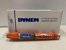 1 Box Of 12 Dykem Valve Markers ORANGE #40010 Brite-Mark 40 Medium Tip 1 Dz