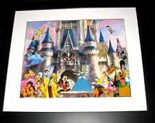 Disney Pin✿Framed Dreams Come True Castle Cast Pluto Cruella Jiminy Tink Mickey+