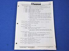 CHEVY II / NOVA PARTS NUMBERS CATALOG 62 - 1968 *original*