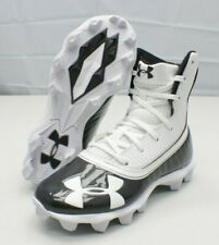 Under Armour Boy's Youth 1M Highlight Rm Jr Football Cleats White/ Black ~New