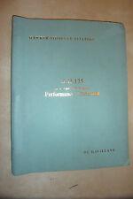 HAWKER SIDDELEY DE HAVILLAND DH125 TECHNICAL PERFORMANCE STATEMENT BOOK BROCHURE