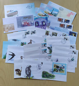 Lot of 28x First Day Cover (FDC) Belarus - birds, europa, castles